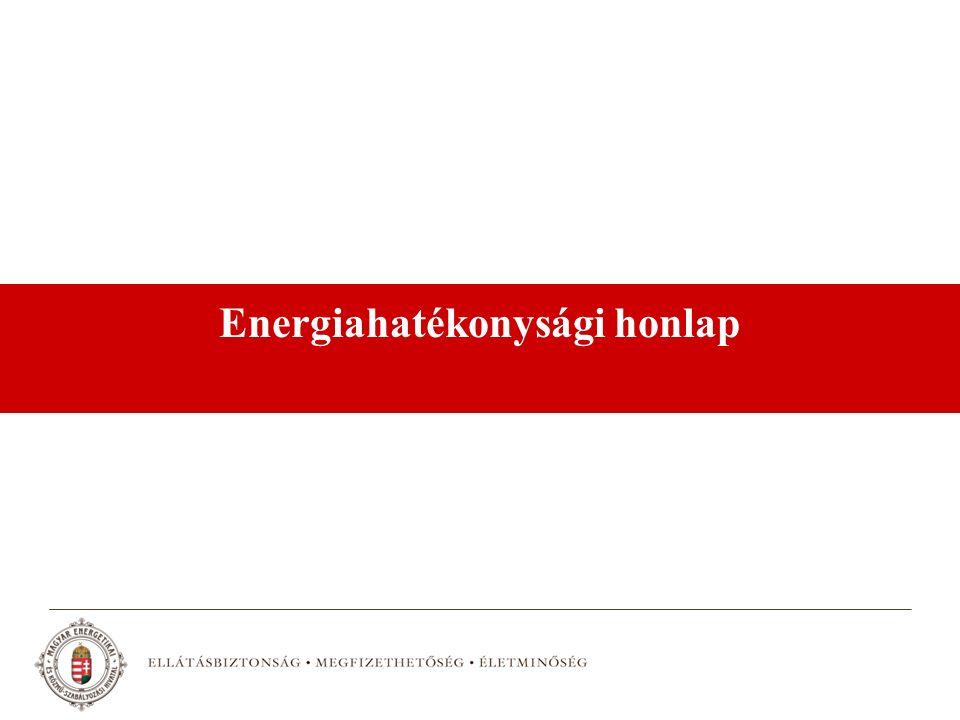 Energiahatékonysági honlap