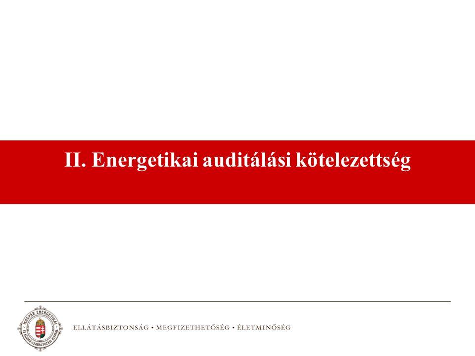 II. Energetikai auditálási kötelezettség
