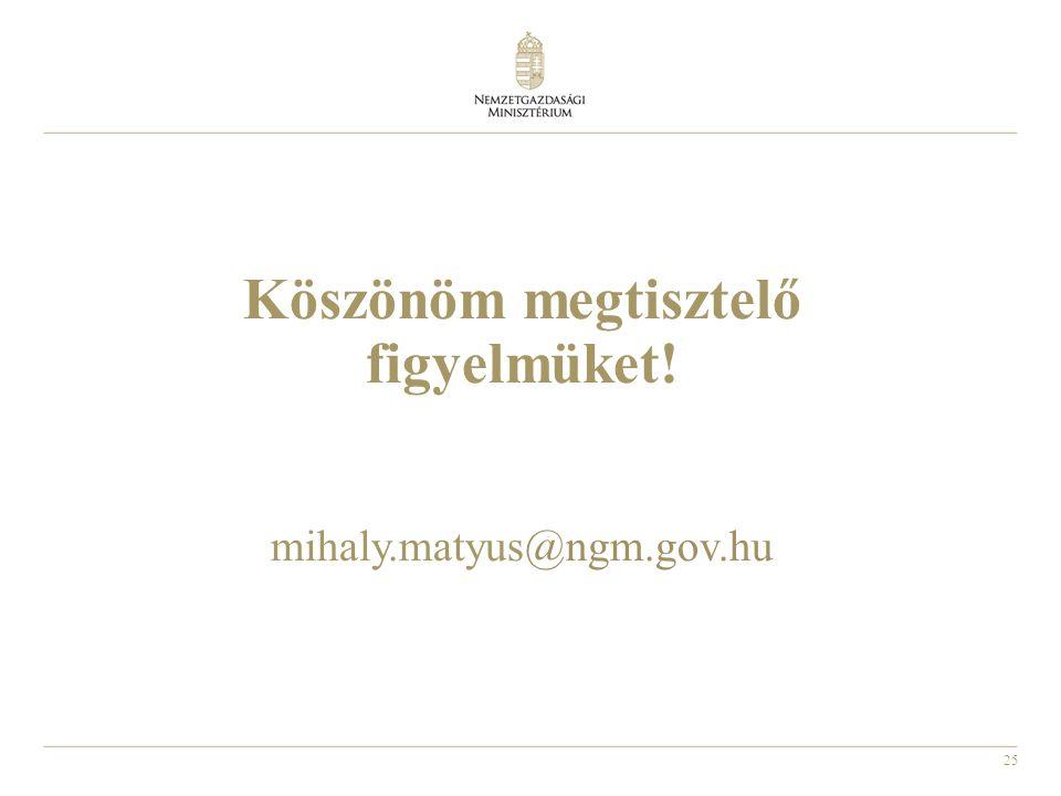 25 Köszönöm megtisztelő figyelmüket! mihaly.matyus@ngm.gov.hu