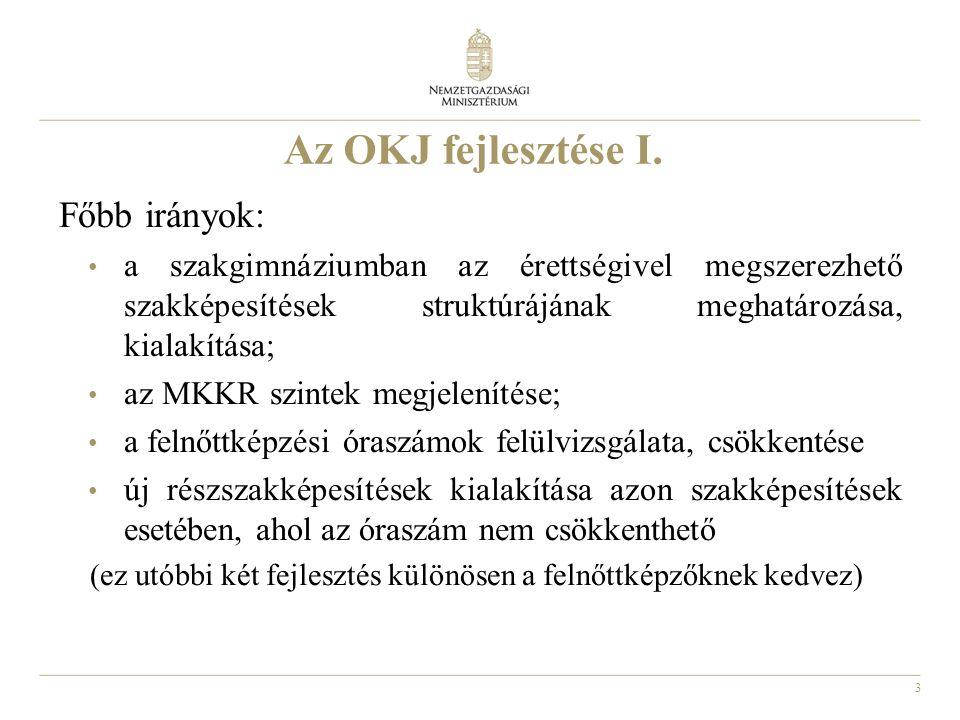 4 Az OKJ fejlesztése II.