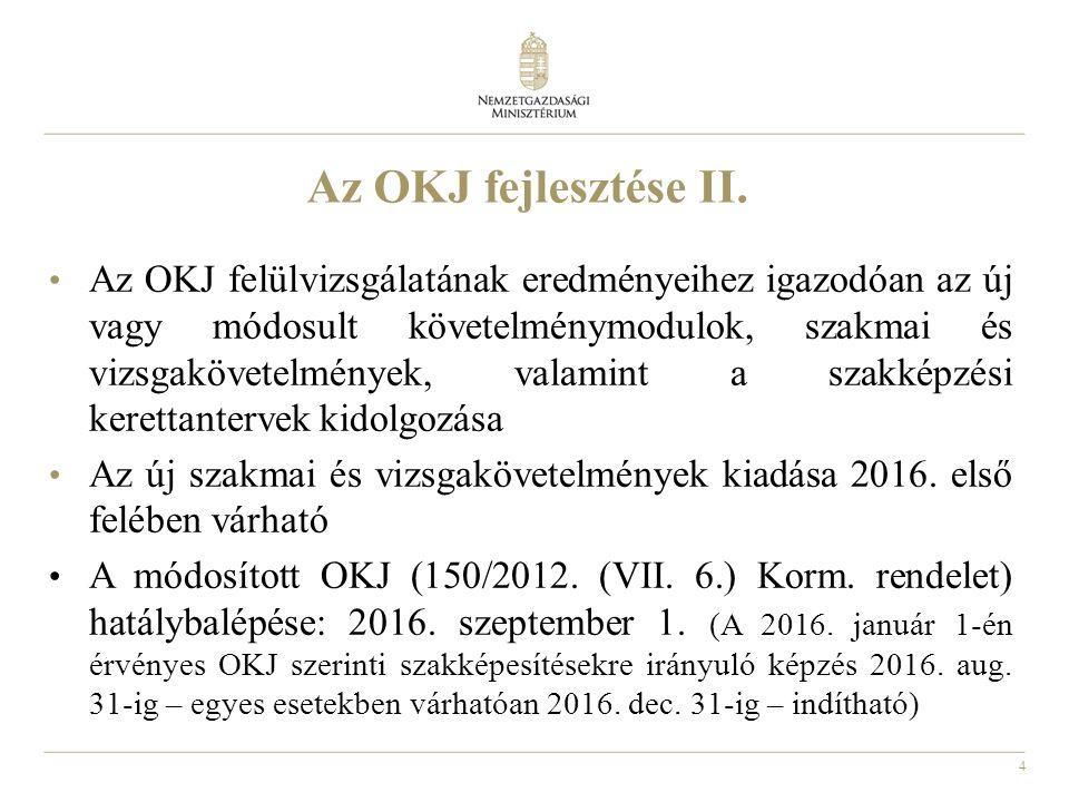 5 Az új felnőttképzési törvény hatályba lépése óta: Megjelentek az új rendszer indulásához szükséges jogszabályok – 1 kormány- és 5 miniszteri rendelet Folyik az engedélyezés – jelenleg 1.456 intézmény több, mint 17.000 képzése van nyilvántartásban Működik a kamarai Program Bizottság – napjainkig 149 szakmai programkövetelményt fogadott el, ez egyben 398 programkövetelmény modult is jelent 10 nyelvből 144 nyelvi programkövetelmény jelent meg Miniszter úr döntött arról, hogy mely szervezetek végezhetik a felnőttképzést folytató intézmények minőségbiztosítási rendszereinek külső értékelését
