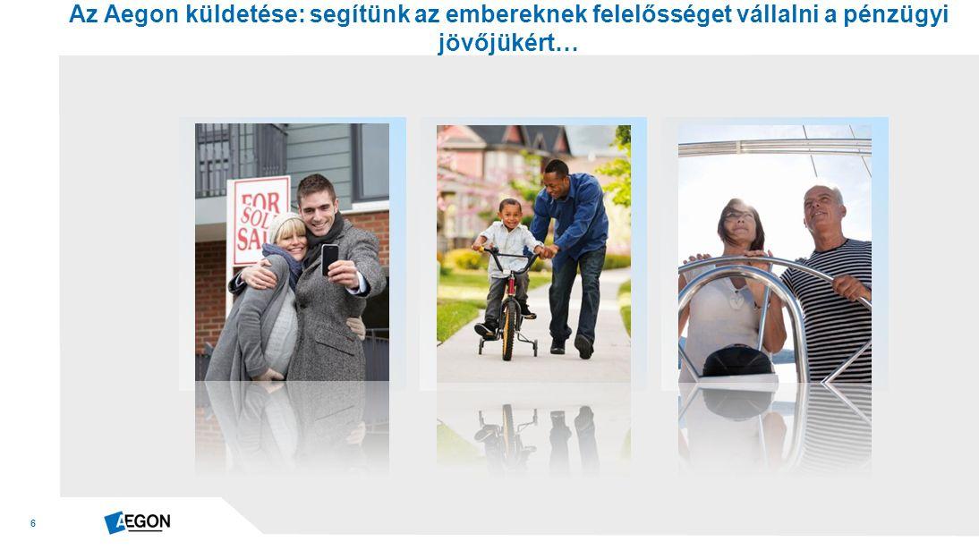 6 Az Aegon küldetése: segítünk az embereknek felelősséget vállalni a pénzügyi jövőjükért…