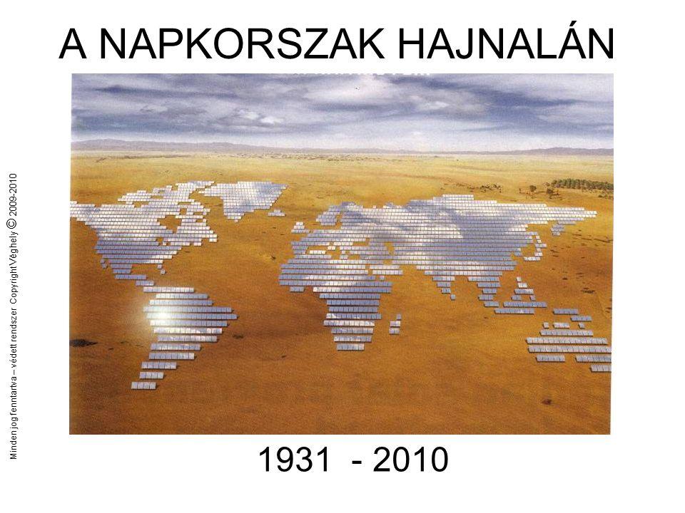 Minden jog fenntartva – védett rendszer Copyright Véghely © 2009-2010 Paradigma váltás az energiában
