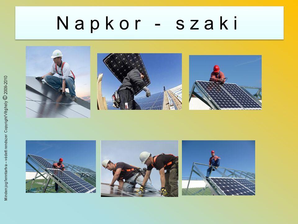 Minden jog fenntartva – védett rendszer Copyright Véghely © 2009-2010 Képzések 2 Megújuló energia rész anyagokkgal (napenergia, földhő, biomassza, szél, stb) bővített tanfolyam.