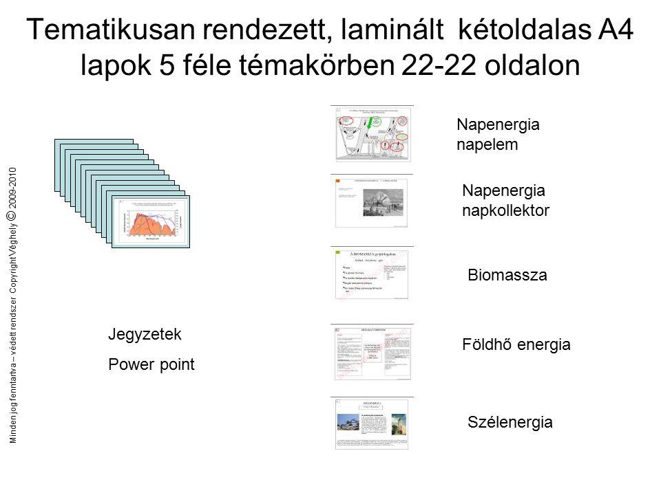 Minden jog fenntartva – védett rendszer Copyright Véghely © 2009-2010 Segédanyagok