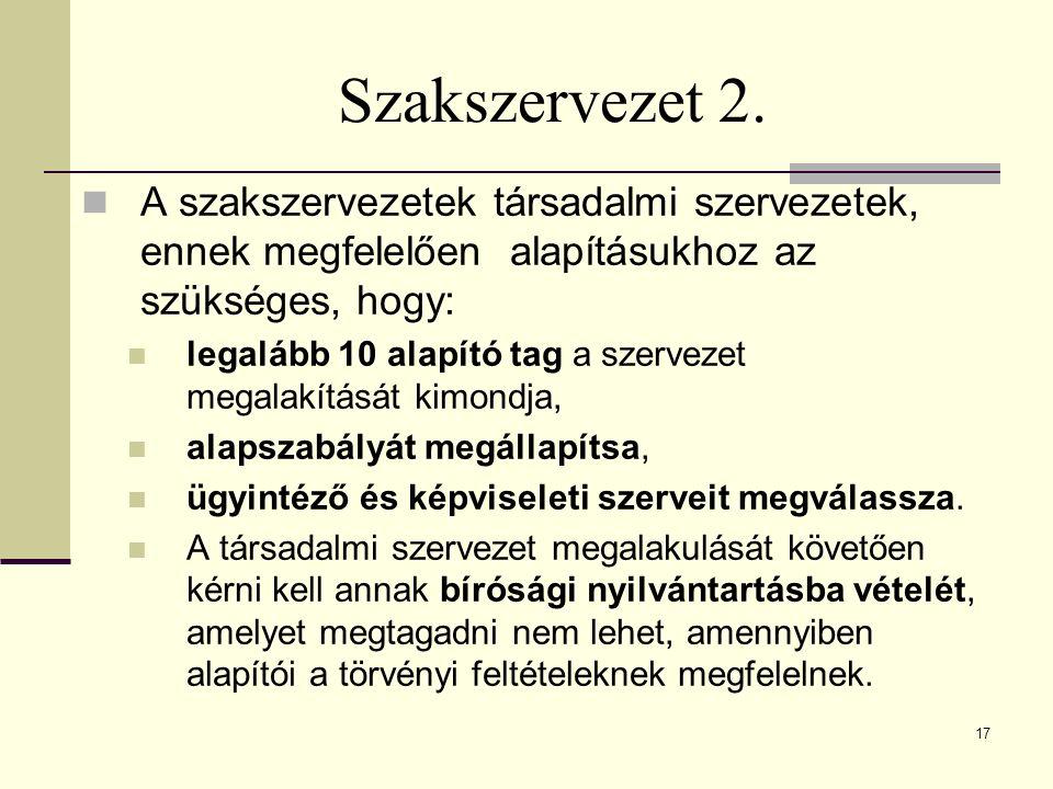 Szakszervezet 2.
