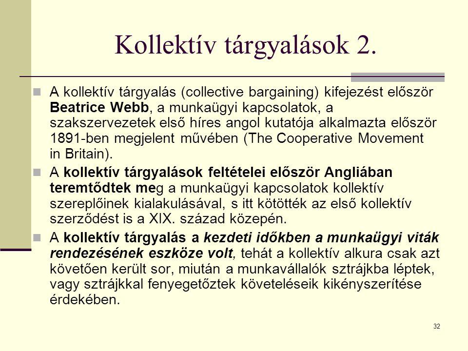 32 Kollektív tárgyalások 2.