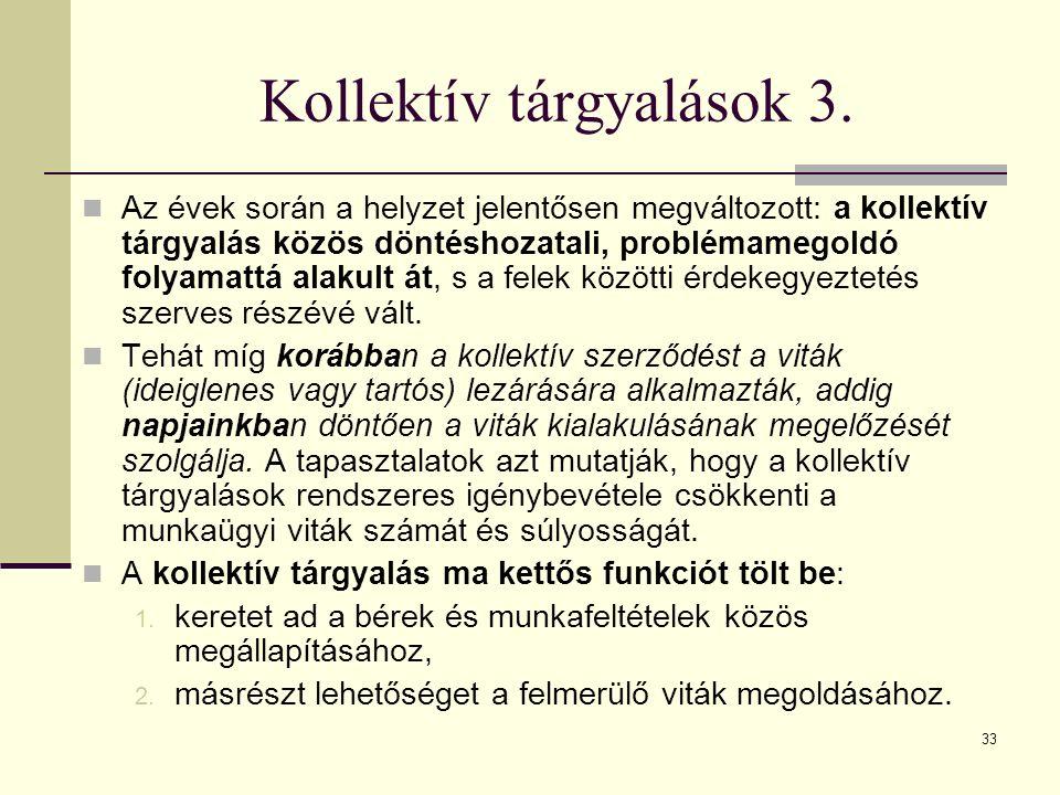33 Kollektív tárgyalások 3.