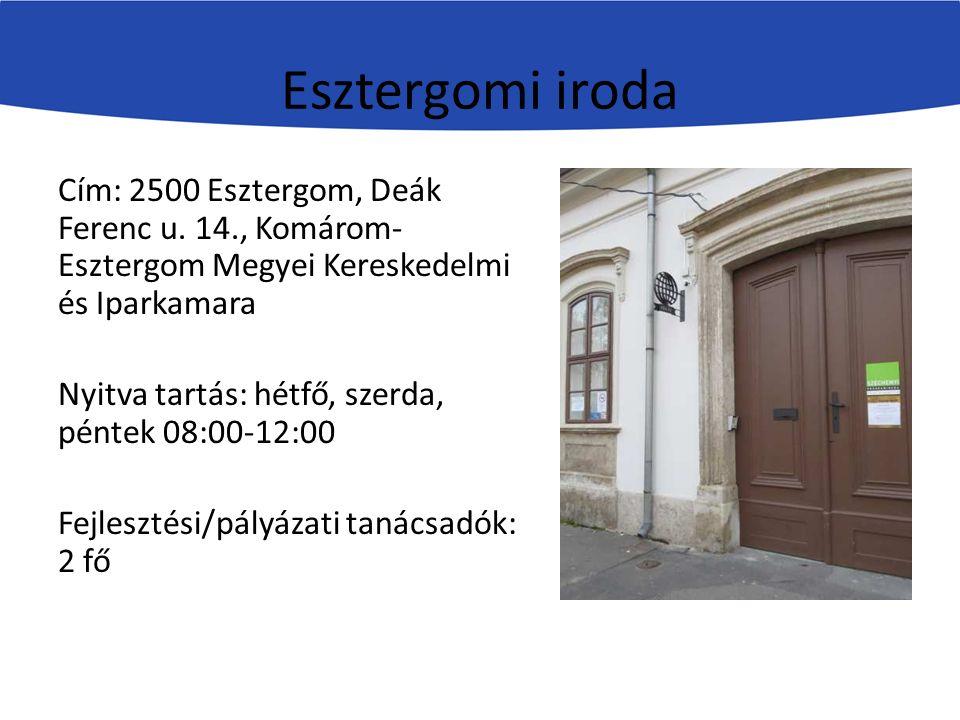 Esztergomi iroda Cím: 2500 Esztergom, Deák Ferenc u.