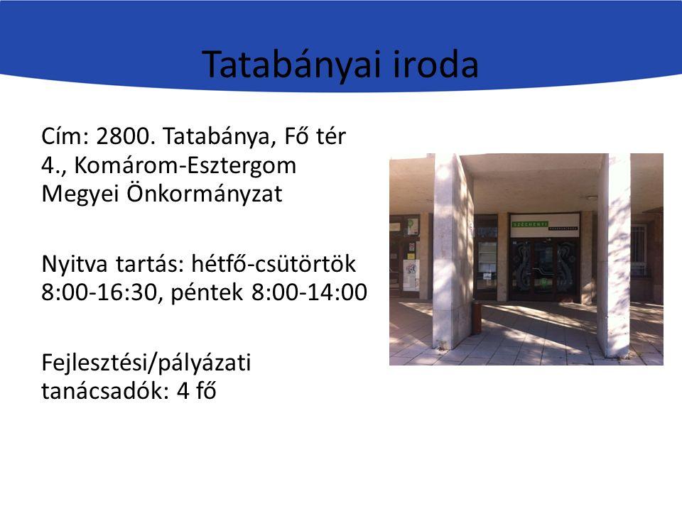 Tatabányai iroda Cím: 2800.