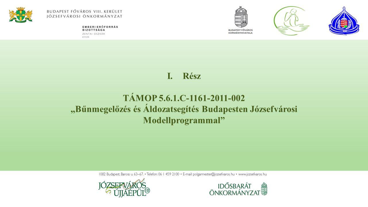 """I.Rész TÁMOP 5.6.1.C-1161-2011-002 """"Bűnmegelőzés és Áldozatsegítés Budapesten Józsefvárosi Modellprogrammal"""""""