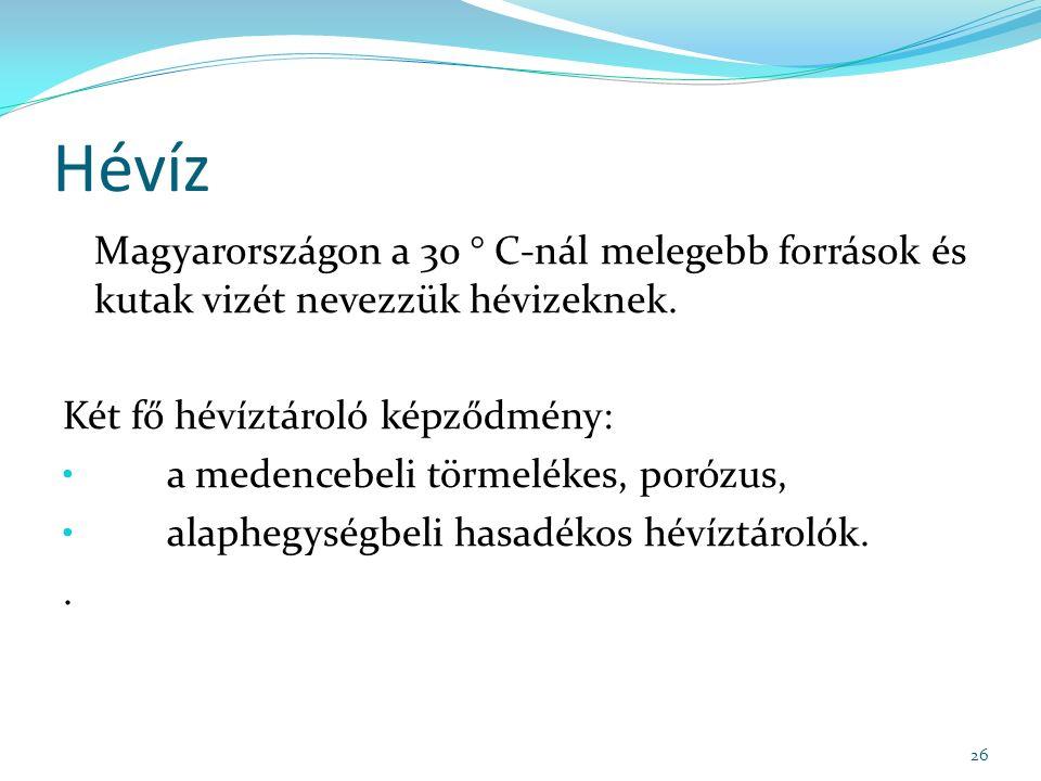 Hévíz Magyarországon a 30 ° C-nál melegebb források és kutak vizét nevezzük hévizeknek.