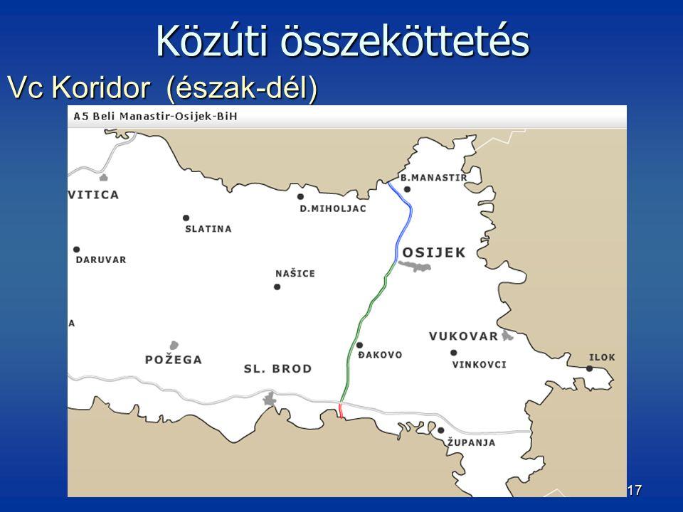 17 Vc Koridor (észak-dél) Közúti összeköttetés
