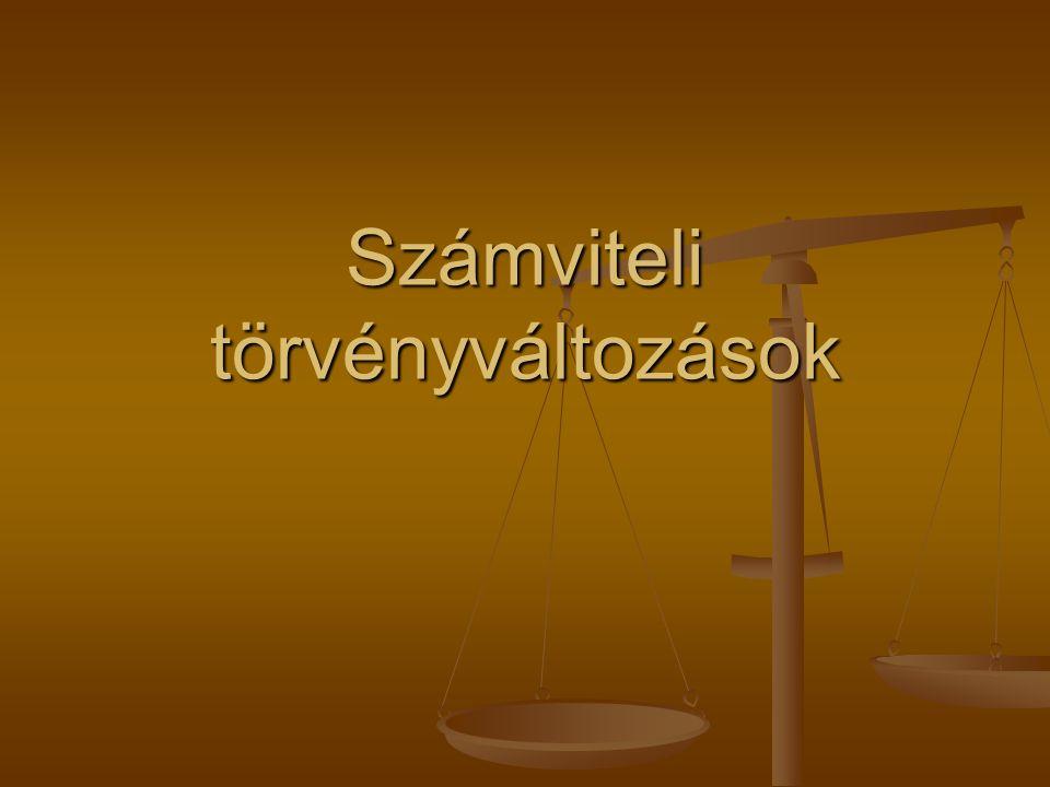 Számviteli törvényváltozások