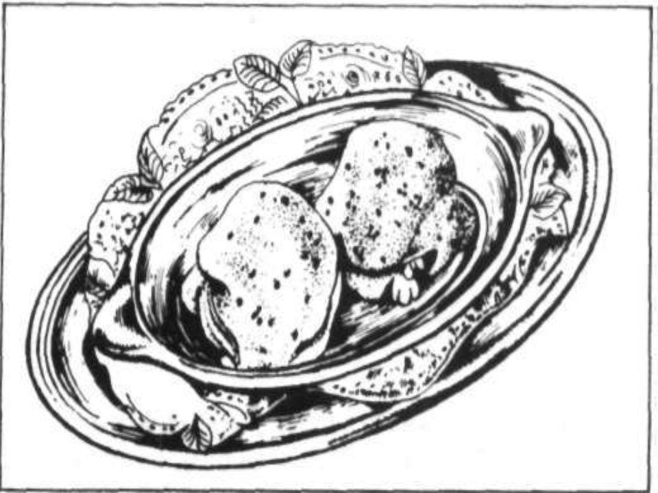 Bevert tojás bakonyi módra (Oeufs pochés á la Bakony) Ajánlott anyaghányad: Bakonyi mártás Só Párolt rizs Ecet (20%-os) Tojás
