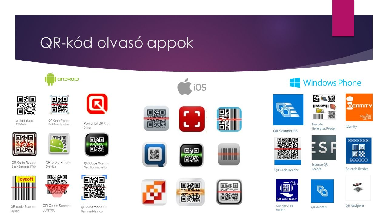 QR-kód olvasó appok