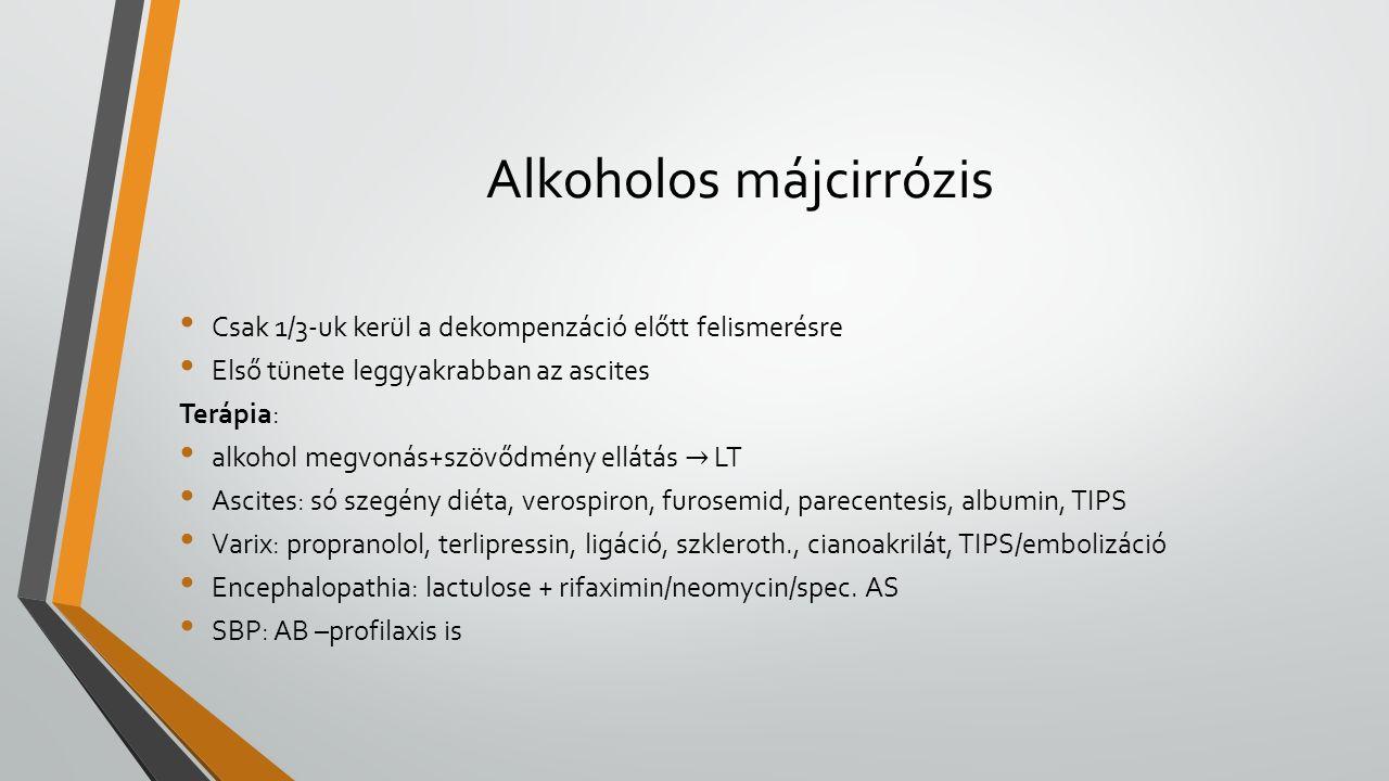Alkoholos májcirrózis