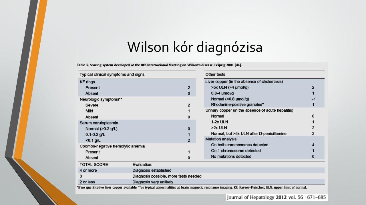 Wilson kór diagnózisa