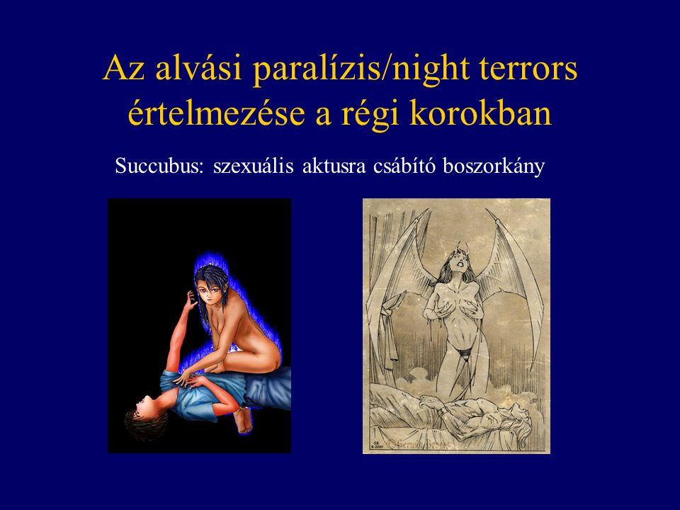 Az alvási paralízis/night terrors értelmezése a régi korokban Succubus: szexuális aktusra csábító boszorkány