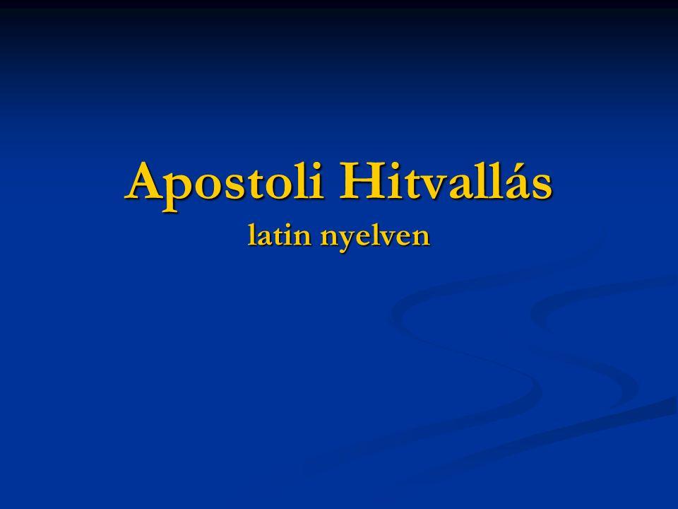 Apostoli Hitvallás latin nyelven