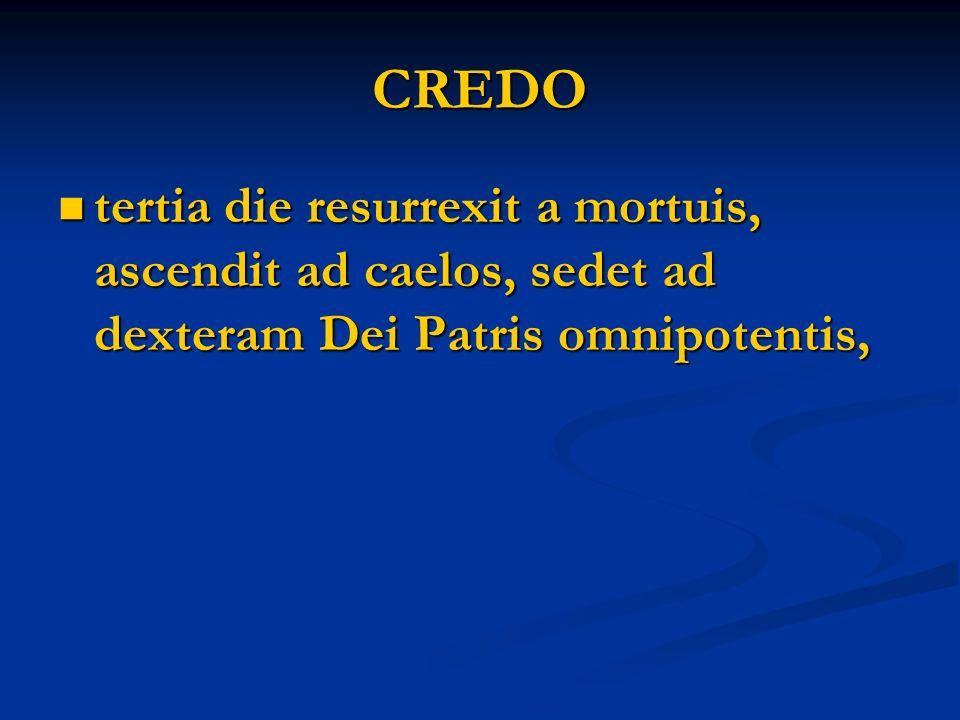 CREDO inde venturus est iudicare vivos et mortuos; inde venturus est iudicare vivos et mortuos;