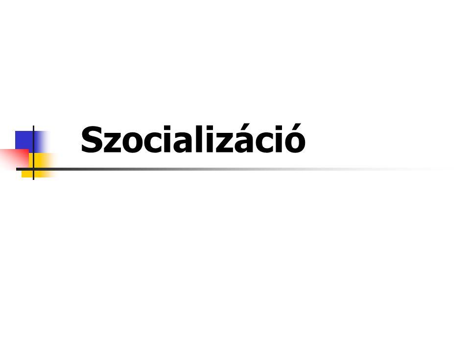 """Társadalmi lénnyé válás folyamata Az adott társadalom szabályainak, normáinak, értékeinek, hagyományainak és kultúrájának elsajátítása, amely által az egyén a társadalom """"jól funkcionáló tagjává válhat Nem azonos fogalom a fejlődéssel A szocializáció fogalma"""