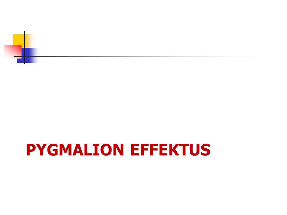 PYGMALION EFFEKTUS