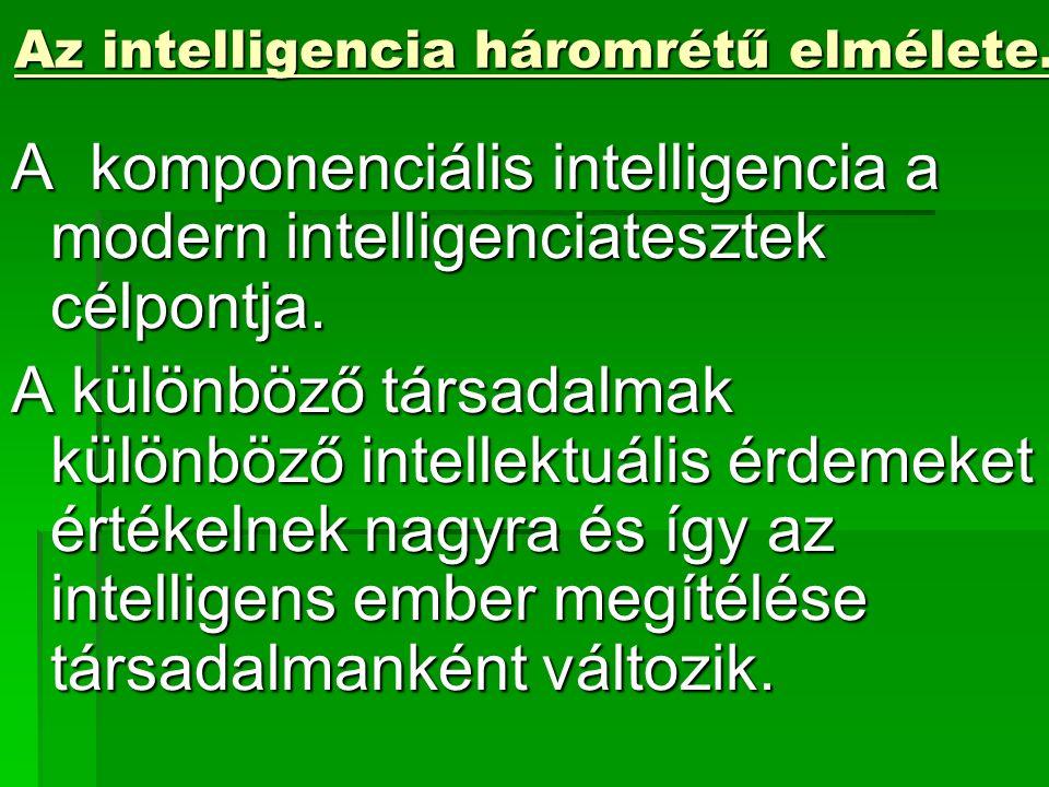 Az intelligencia háromrétű elmélete.