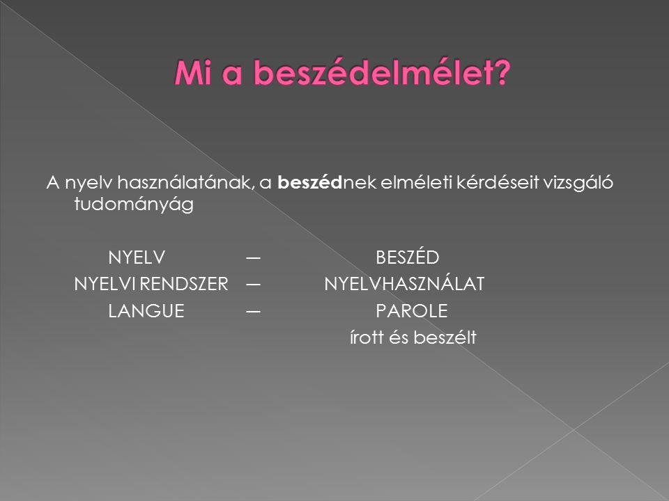 I.Kommunikációelméleti II. Pszicholingvisztikai III.