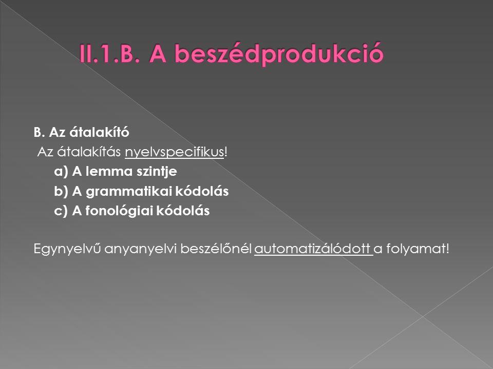 B. Az átalakító Az átalakítás nyelvspecifikus.