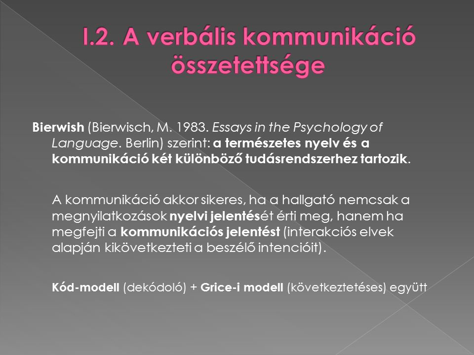Bierwish (Bierwisch, M. 1983. Essays in the Psychology of Language.