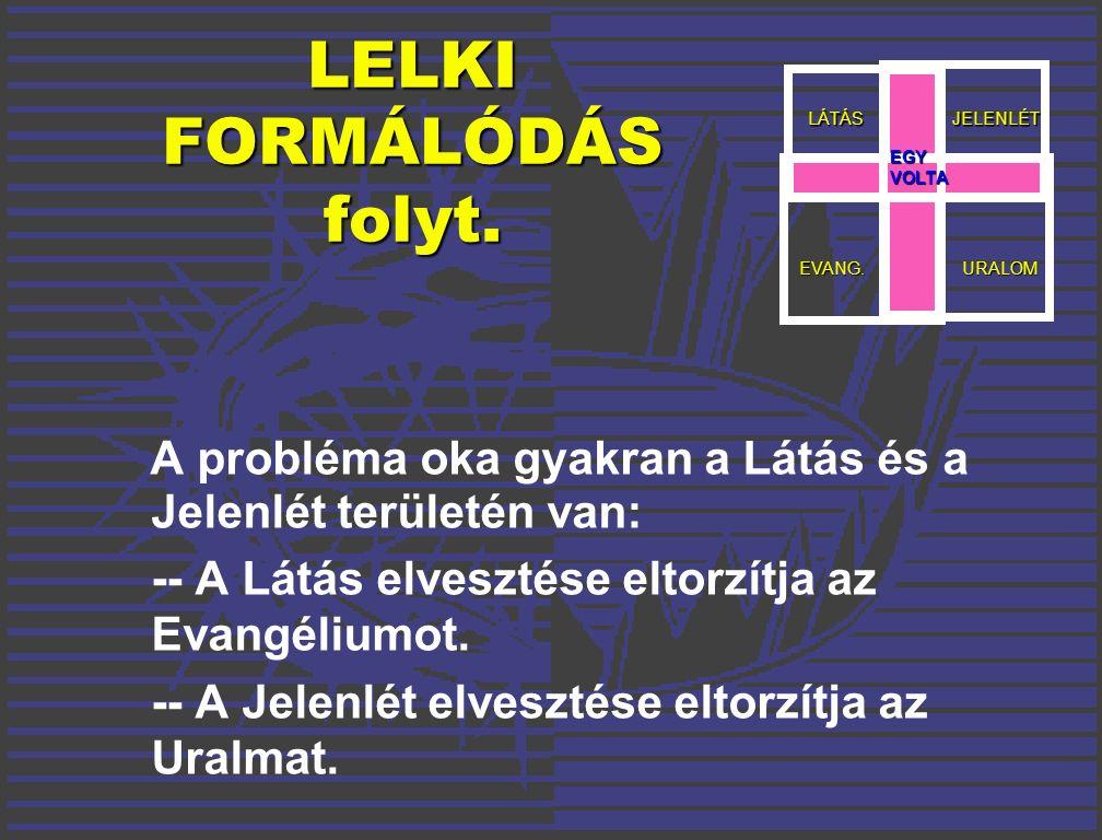 LELKI FORMÁLÓDÁS folyt.