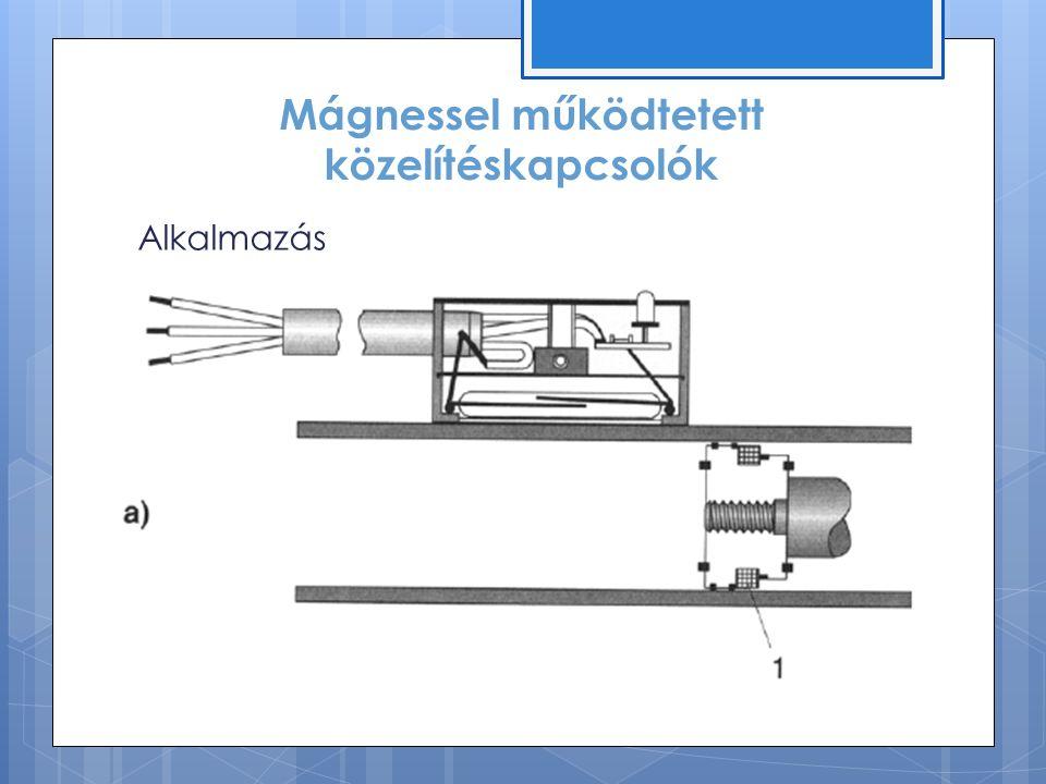 Mágnessel működtetett közelítéskapcsolók Alkalmazás