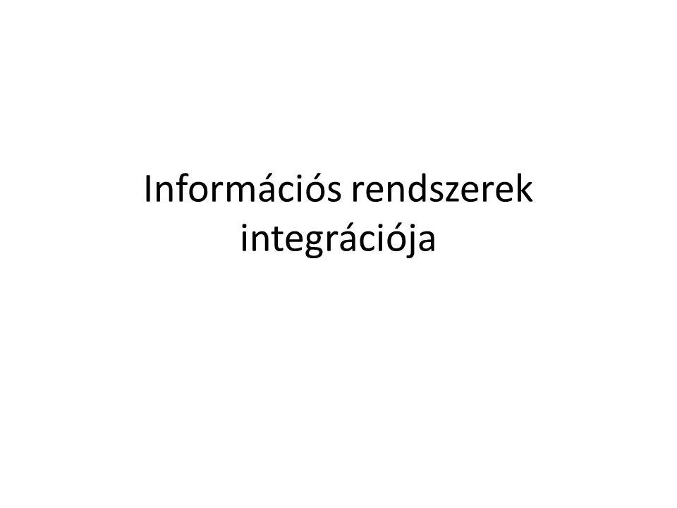Információs rendszerek integrációja