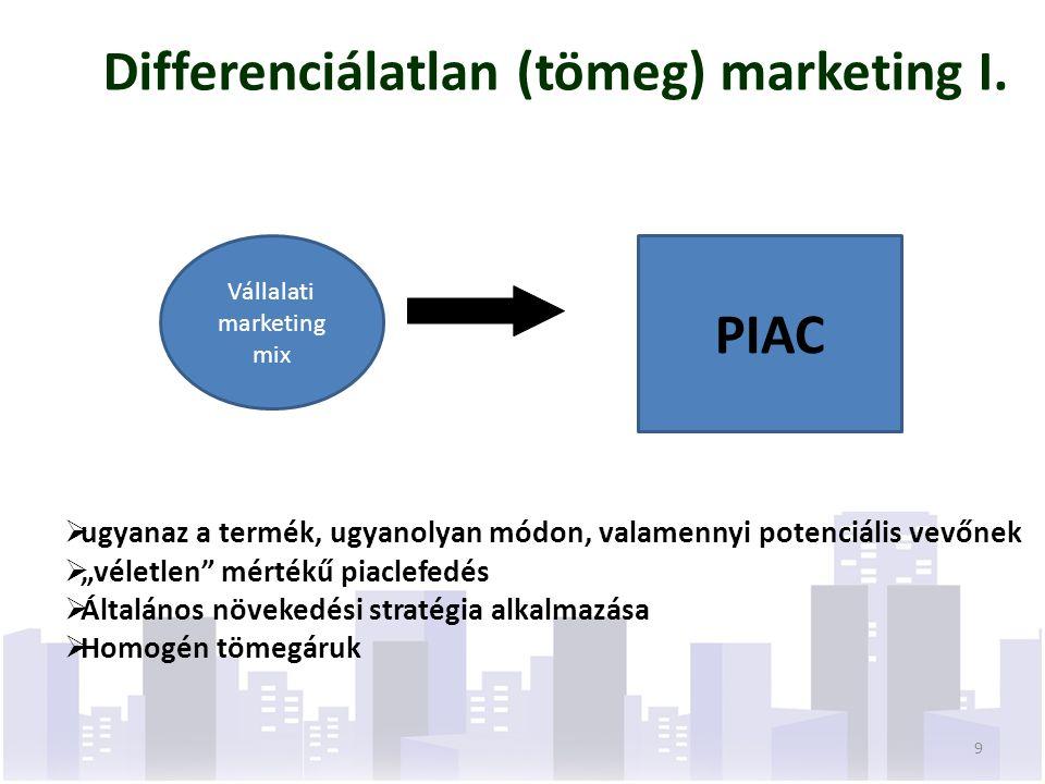 Költségcsökkentő stratégia Alapja a vállalati költségcsökkentés folyamatossága a tevékenység (K+F, beszerzés, termelés, értékesítés, marketing) minden területén Csak hatékony üzemegység és nagyméretű sorozatok esetén eredményes (multik stratégiája > nagy sorozat, olcsó ár > termékválaszték szélesség csökkenése, sorozatnagyság növekedése ) A kis vevőket nem veszik figyelembe, tömegmarketing Védelem a versenytársakkal szemben, kedvező helyzete termet a helyettesítő termékek számára 50