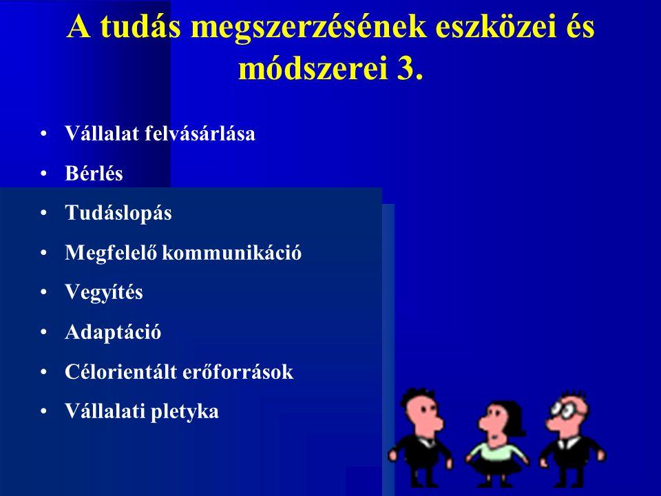 A tudás megszerzésének eszközei és módszerei 3.