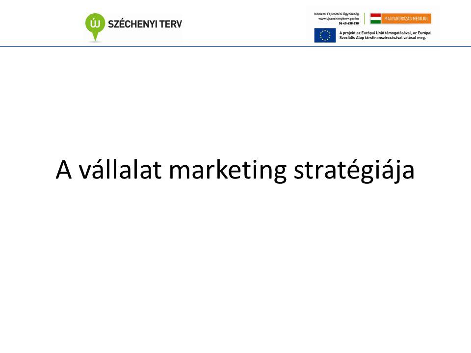 A vállalat marketing stratégiája