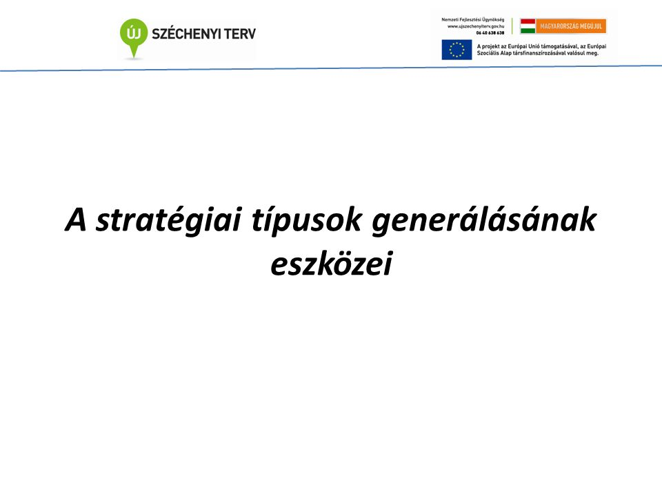 A stratégiai típusok generálásának eszközei