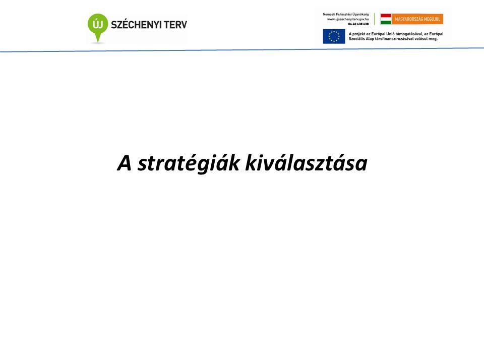 A stratégiák kiválasztása