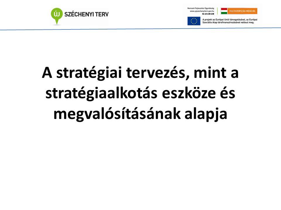 A stratégiai tervezés, mint a stratégiaalkotás eszköze és megvalósításának alapja
