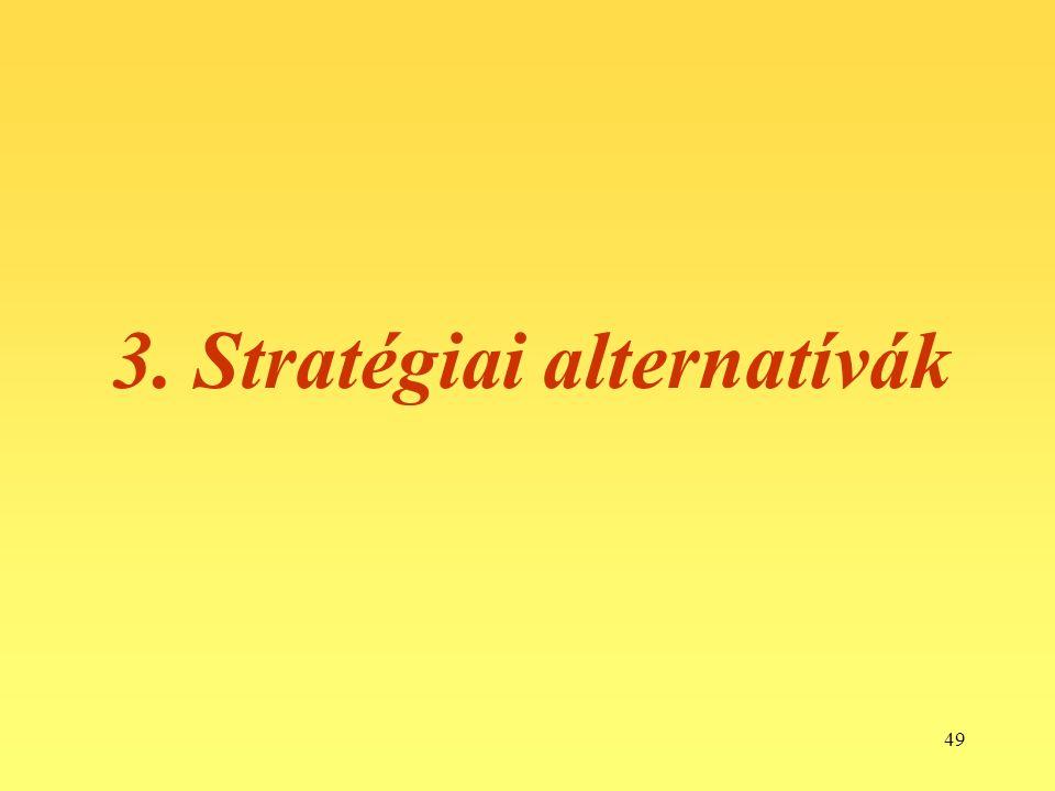 49 3. Stratégiai alternatívák