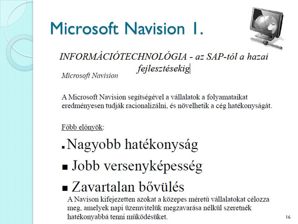 Microsoft Navision 1. 16