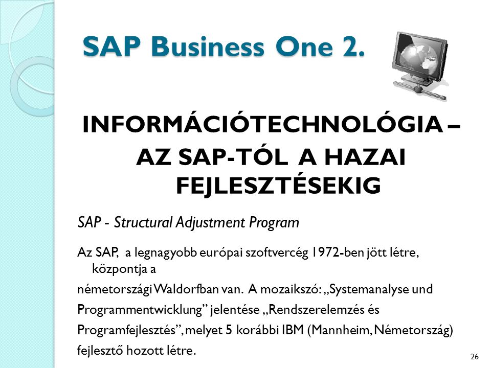 SAP Business One 2.