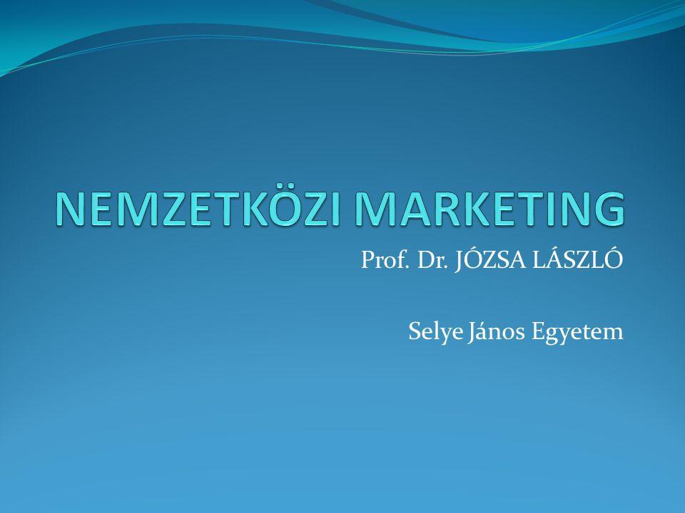 Prof. Dr. JÓZSA LÁSZLÓ Selye János Egyetem