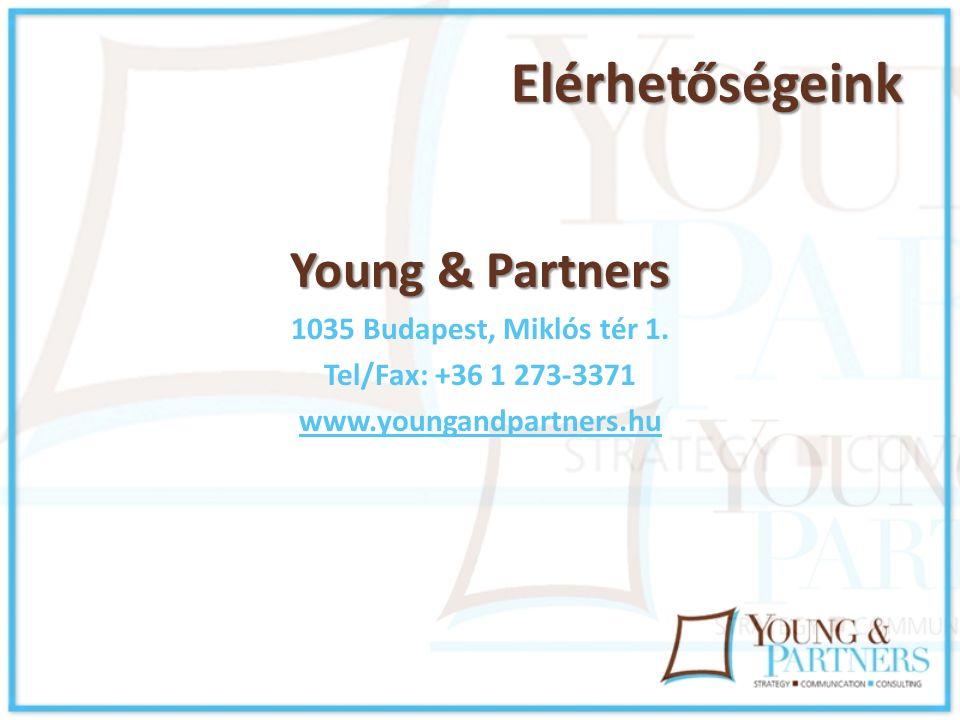 Elérhetőségeink Young & Partners 1035 Budapest, Miklós tér 1.