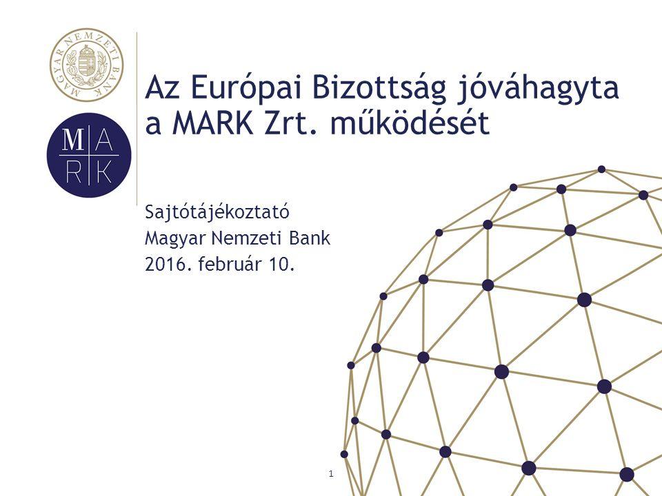 1 Sajtótájékoztató Magyar Nemzeti Bank 2016. február 10.