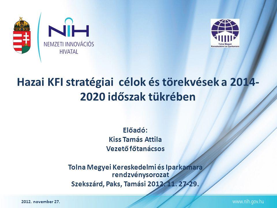 A támogatások főbb jogcímei K+F projekt támogatás Beruházási támogatás Csekély összegű (de minimis)