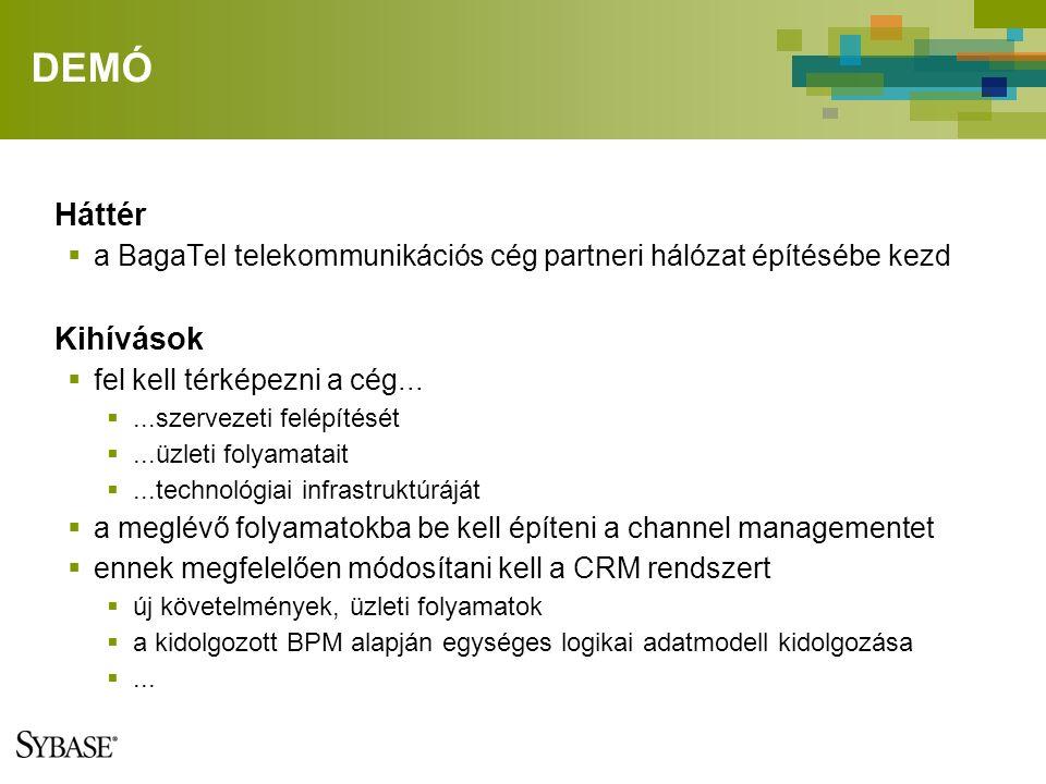 DEMÓ Háttér  a BagaTel telekommunikációs cég partneri hálózat építésébe kezd Kihívások  fel kell térképezni a cég...