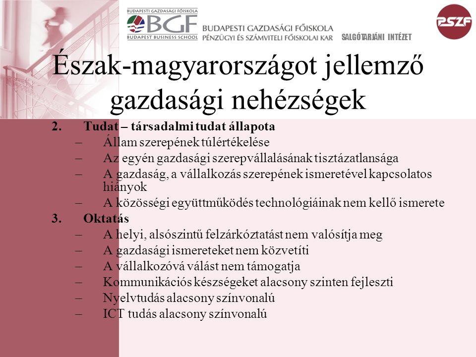 A főiskola tudásalapjának integrálása a helyi gazdaságba (Megvalósítás) 1.A helyi gazdaságfejlesztés új alapra helyezése (Santa Borbála modell).
