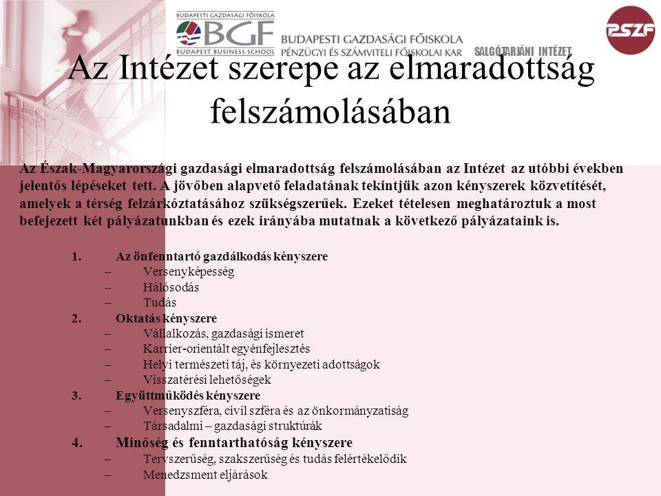 Fejlesztési koncepció Főiskolai tudásközpont koncepció (Santa Borbála) SALGÓTARJÁNI INTÉZET